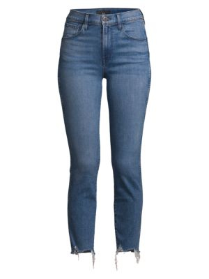 W3 Authentic Mid-Rise Straight-Leg Cropped Jeans