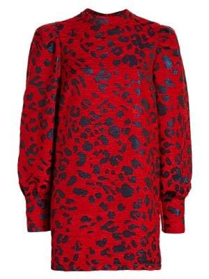 Baylee Leopard Jacquard Mini Dress