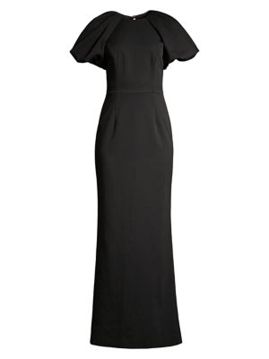 Winslow Puff-Sleeve Column Gown