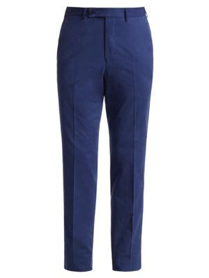 Cotton & Cashmere-Blend Trousers