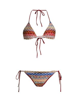 2-Piece Chevron Classic String Bikini Set
