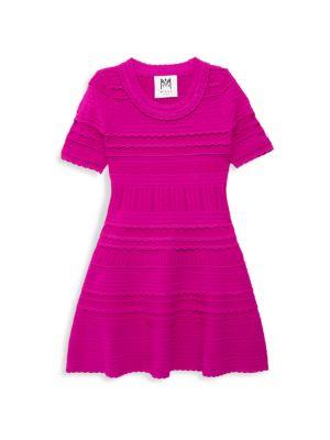 Little Girl's & Girl's Knit Short-Sleeve Flare Dress