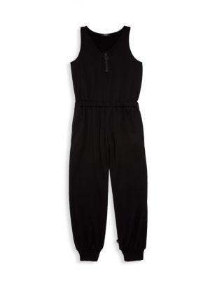 Girl's Quarter-Zip Jumpsuit