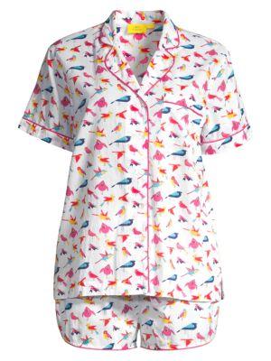 Two-Piece Funny Birds Pajama Set