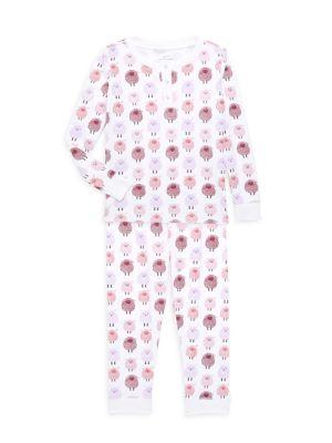 Baby's, Little Girl's & Girl's 2-Piece Woolie Sheep Print Pajama Set