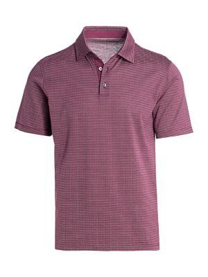 COLLECTION Textured Dot Short-Sleeve Polo Shirt