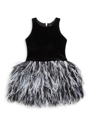 Girl's Hope Ostritch Feather Dress