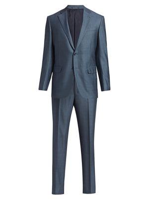 Trofeo Striped Wool & Silk Suit