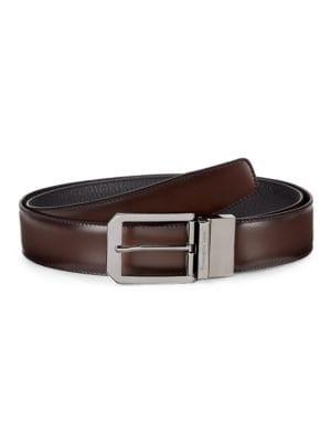 Adjustable & Reversible Leather Belt