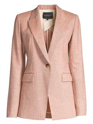 Heather Speckled Herringbone Jacket
