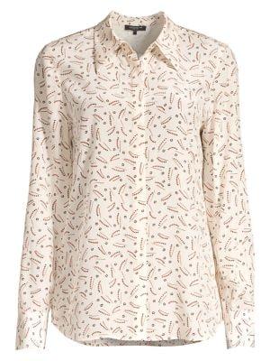Julianne Printed Silk Blouse