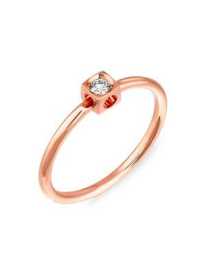 Le Cube Diamond 18K Rose Gold Ring
