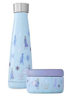 디즈니 겨울왕국2 엘사 보온 물병 세트 S'well Disneys Frozen 2 Queen Elsa 2-Piece Stainless Steel Water Bottle & Food Container Set,Elsa