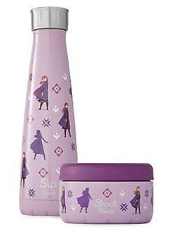 디즈니 겨울왕국2 보온 물병 세트 S'well Disneys Frozen 2 Brave Princess 2-Piece Stainless Steel Water Bottle & Food Container Set,Anna