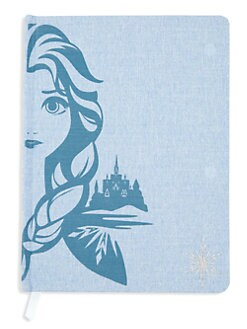 디즈니 겨울왕국2 엘사 일기장 Innovative Designs Disneys Frozen 2 Elsa Linen Journal,Blue