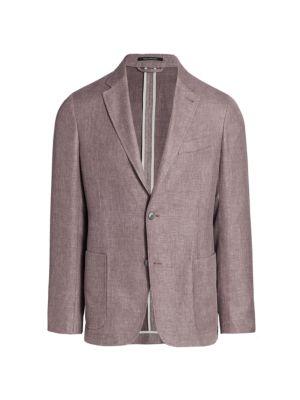 Crossover Linen-Blend Jacket
