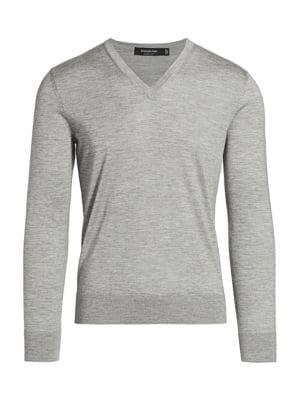 Cashmere & Silk V-Neck Sweater