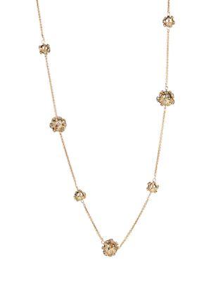 10K Goldplated & Crystal Sputnik Station Necklace