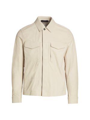 Nappa Leather Shirt Jacket