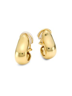 18K Yellow Gold Small Hoop Clip-On Earrings