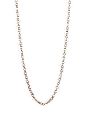 18K Rose Gold Belcher-Link Long Chain Necklace