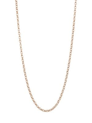 """18K Rose Gold Belcher-Link Chain Necklace/20""""-23"""""""