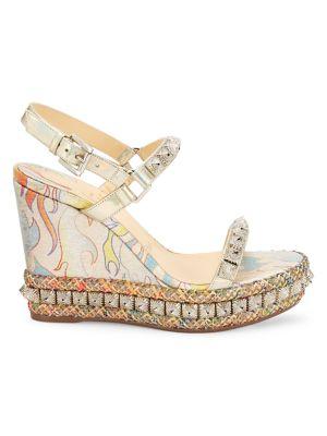 Pira Ryad Studded Platform Wedge Sandals