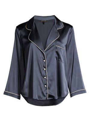 Kinsley Stretch-Silk Night Shirt