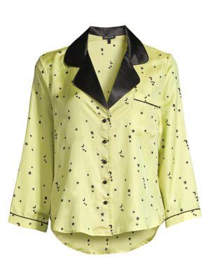 Kinsley Moon & Star Silk Satin Night Shirt