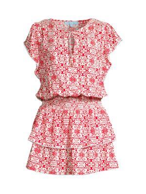 Keri Tile Print Mini Dress