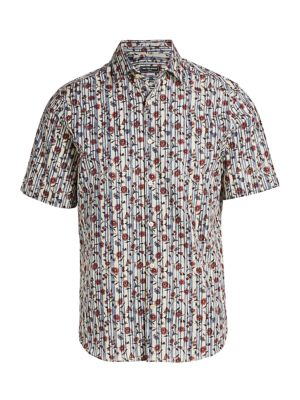 COLLECTION Modern-Fit Floral Stripe Shirt