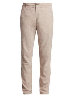 COLLECTION Drawstring Linen-Blend Pants
