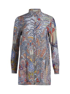 Dreamtime Paisley Silk Tunic Blouse
