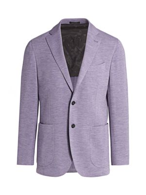 COLLECTION Heathered Jersey Knit Sportcoat