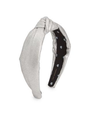 Metallic Faux-Leather Knot Headband