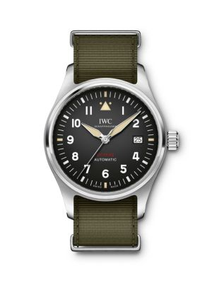 Pilot Spitfire Stainless Steel & Textile Strap Watch