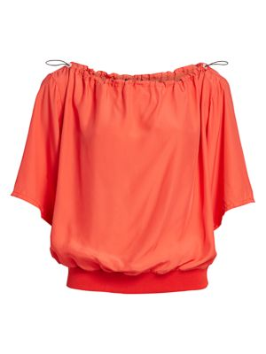 Off-The-Shoulder Drawcord Top