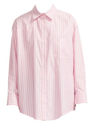 Cherry Cotton Stripe Shirt