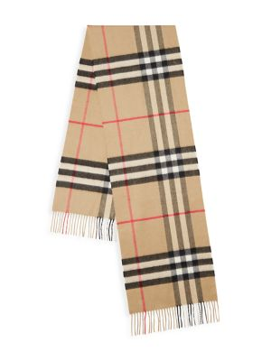 The Classic Giant Check Cashmere Scarf
