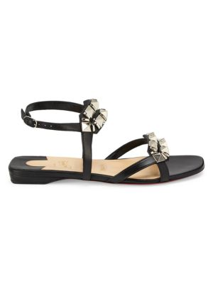 Galerietta Studded Flat Leather Sandals