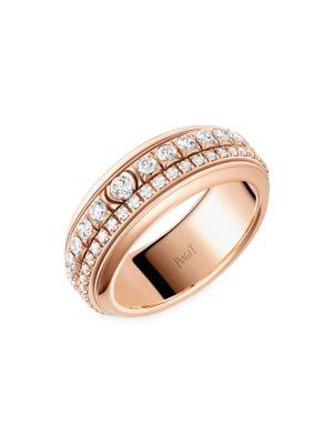 Possession 18K Rose Gold & Diamond Two-Band Ring