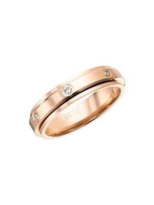 Possession 18K Rose Gold & Diamond Station Ring