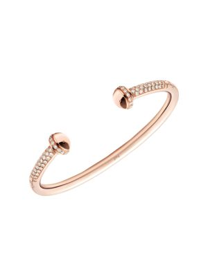 Possession 18K Rose Gold & Diamond Open Bangle Bracelet