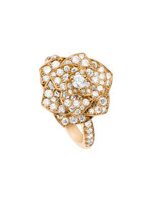 Piaget Rose 18K Rose Gold & Diamond Ring
