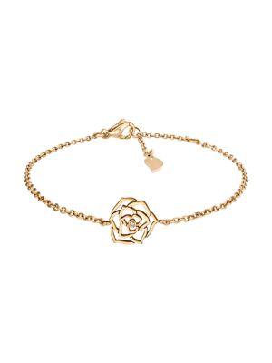 Piaget Rose 18K Rose Gold & Diamond Link Bracelet