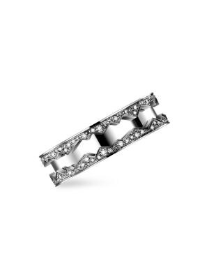 Capture in Motion 18K White Gold & Diamond Rolling Ring