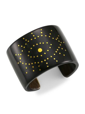 Black Horn Evil-Eye Cuff Bracelet