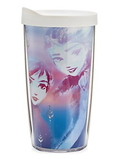 디즈니 겨울왕국2 안나 텀블러 Tervis Disneys Frozen 2 Anna & Elsa 16 oz Lidded Cup,Lavender
