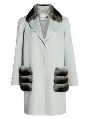 Manzoni 24 For The Fur Salon Chinchilla-Trimmed Cashmere Coat