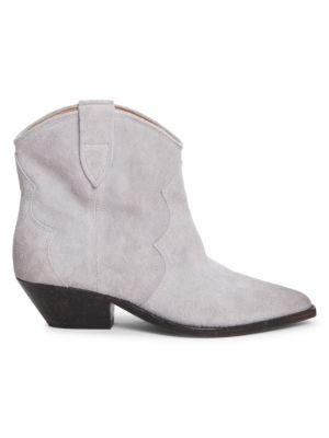 Dewina Western Suede Ankle Boots